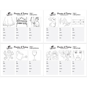 Coloring Practice Worksheets