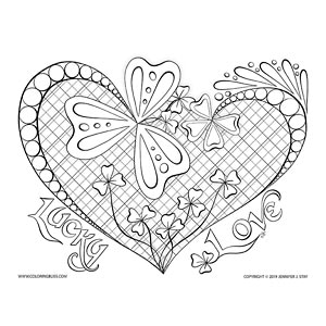 "Lucky Love"" St. Patrick's Day Coloring Page"