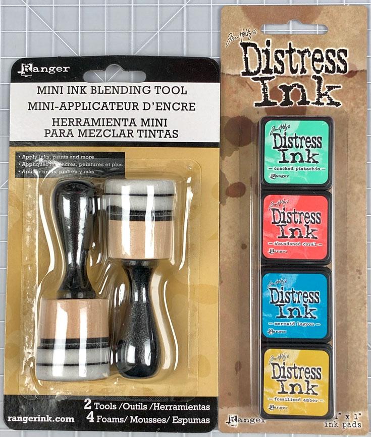 Tim Holtz Mini Distress Ink Kit and Blending Tool
