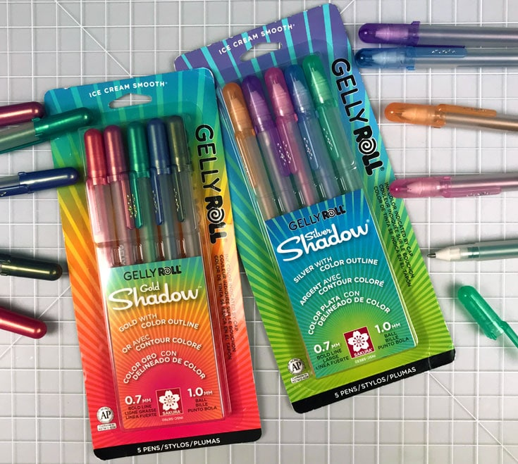 Gelly Roll Silver & Gold Shadow Giveaway