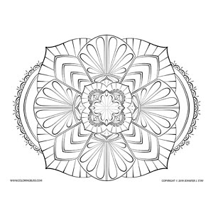 Drawing #1 from Mandala Bliss, Volume 2