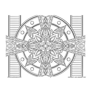 Drawing #3 from Mandala Bliss Volume 2