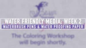 Watercolor Brush Pens & Paper Treatments