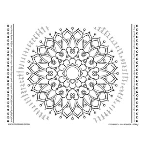 Free Mandala with Inspirational Words