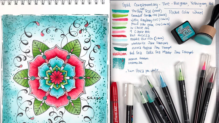 Mandala Coloring Session with Waterbrush Pens