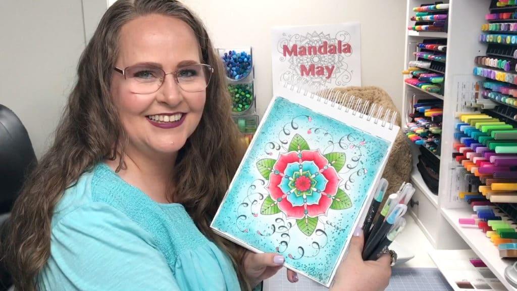 Mandala May Coloring Session