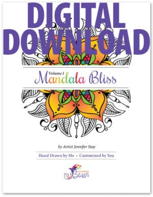 Digital Version of Mandala Bliss, Volume 1