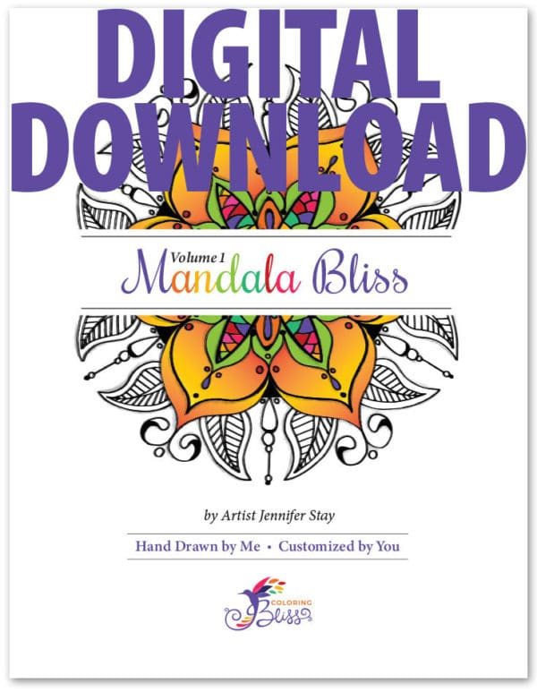 Digital Version of Mandala Bliss, Volume 1
