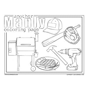 Another Manly Coloring Page