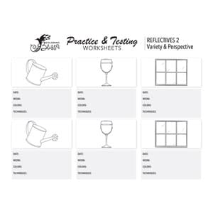 Coloring Practice Worksheet - Reflectives 2