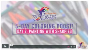 Day 2: Painting with Sharpie Alcohol Markers