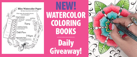 Watercolor Coloring Book Daily Giveaway!