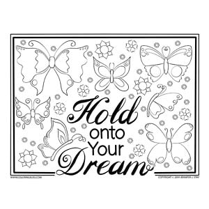 Hold Onto Your Dream Butterflies