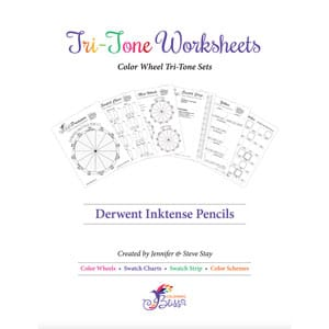 Derwent Inktense Pencils Tri-Tone Worksheets