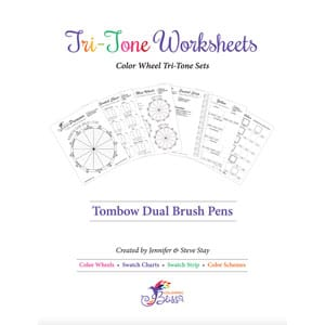 Tombow Dual Brush Pens Tri-Tone Worksheets