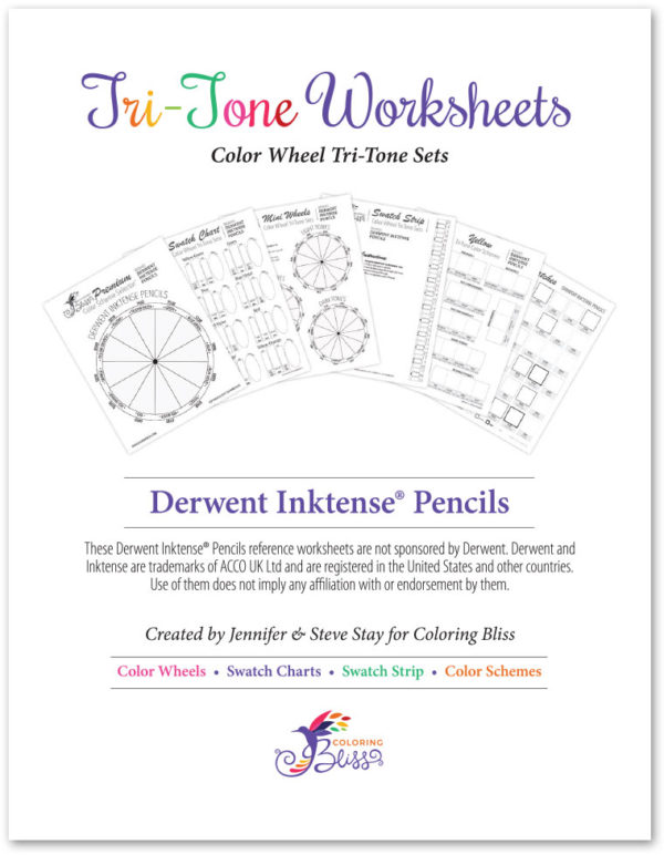 Derwent Inktense Tri-Tone Worksheets