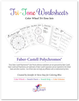 Faber-Castell Polychromos Tri-Tone Worksheets