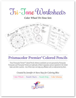 Prismacolor Premier Colored Pencils Tri-Tone Worksheets