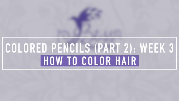 September Workshop Week 3 How to Color Hair with Colored Pencils