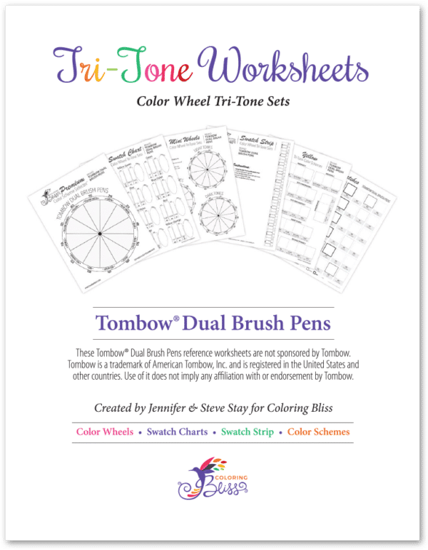 Tombow Dual Brush Pens Tri-Tone Worksheets Cover