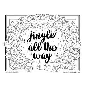 Jingle All the Way Christmas Coloring Page
