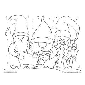 Christmas Gnome Carolers