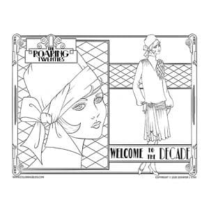 The Roaring Twenties Coloring Page