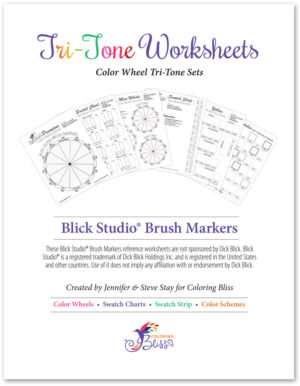 Blick Studio Brush Markers Tri-Tone Worksheets
