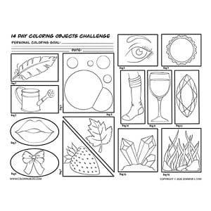 14 Day Coloring Objects Challenge