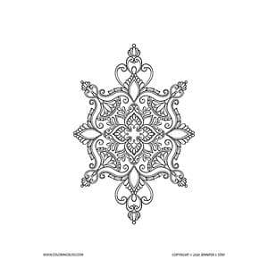 Henna Mendhi Coloring Page