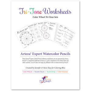 Arteza Expert Watercolor Pencils Tri-Tone Workbook