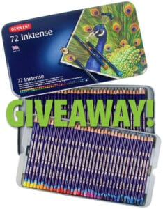Derwent Inktense Pencils Giveaway for World Watercolor Month