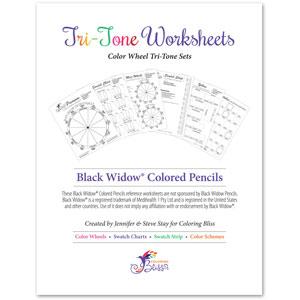 Black Widow Colored Pencils Tri-Tone Workbook