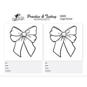 Practice Coloring Large Bows