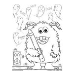 Adorable Halloween Crayon Monster