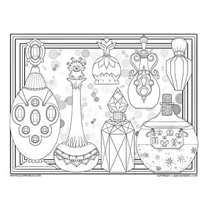Magical Potions Coloring Page