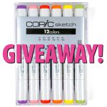Copic Sketch Alcohol Markers Giveaway