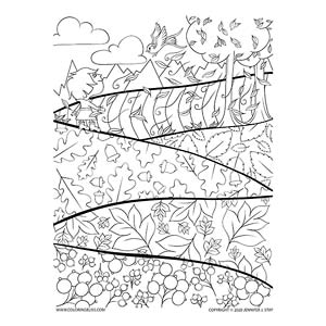 Autumn Fields Coloring Page