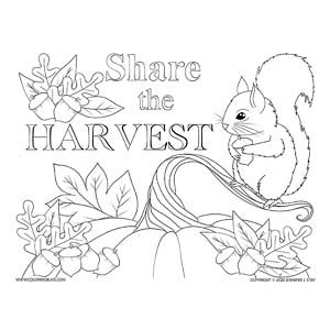 Share the Harvest Coloring Page