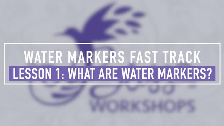 Water Based Markers Fast Track Lesson 1