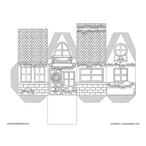 Christmas Lights House Coloring Project