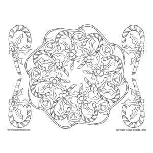 Candy Cane Mandala