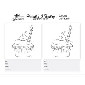 Cupcake Coloring Worksheet