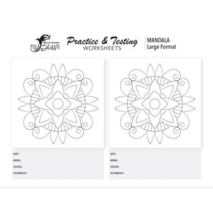 Mandala Practice Coloring Page