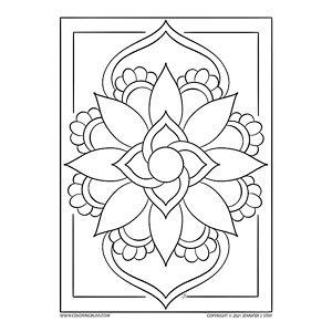 Mandala Coloring Session - Gray on Black