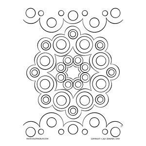 Simple Mandala Made of Circles