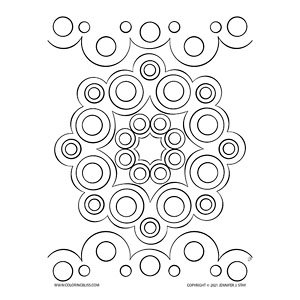 Simple Mandala Made of Circles