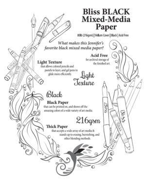 Bliss Black Mixed-Media Paper