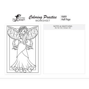 Coloring Page Practice - Fairy