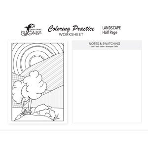 Coloring Page Practice - Landscape